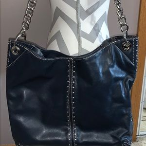 Michael Kors MK Navy Large Shoulder Tote